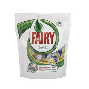 FAIRY All in 1 Ср-во д/пос в п/м маш 24шт в капсул